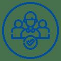 Ícone com pessoas, representando as contratações feitas pelo Mercado Eletrônico ao longo de 2020.
