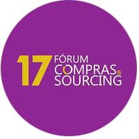 Logotipo do evento online 17º Fórum Compras & Sourcing, com participação do Mercado Eletrônico