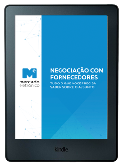 Mockup de tablet com a capa do e-book na tela