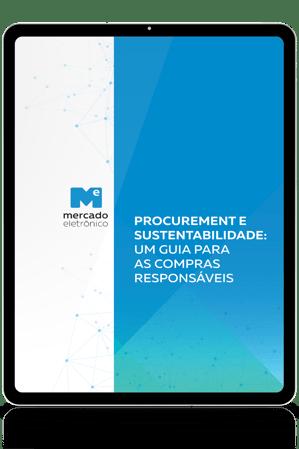Kindle com a capa de um e-book na tela: Procurement e Sustentabilidade: um guia para as compras responsáveis