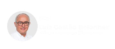 Foto do Host Luiz Gastão VP do Mercado Eletônico