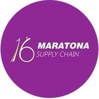 Logotipo do evento online 16ª Maratona Supply Chain, com participação do Mercado Eletrônico